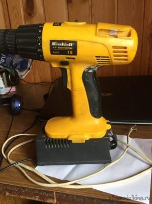 Попытка перевести аккумуляторный шуруповёрт на провод